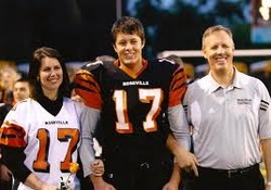 Roseville Chiropractor and Family at Roseville High School Football Game